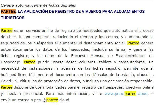 Noticia Partee Perú